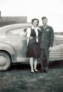 Young Don and Dolores during WWII