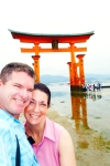 Miyajima 2015, Itsukushima Shrine, self-portrait at O-Torii Gate