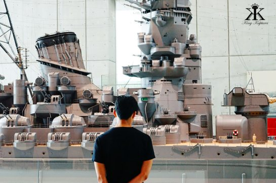 Kure 2015, Kure Maritime (Yamato) Museum, admiring the ship's model WM