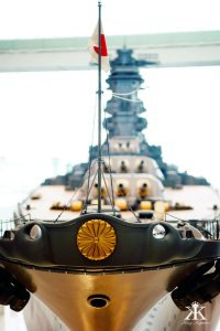 Kure 2015, Kure Maritime (Yamato) Museum, Japanese standard on the bow WM