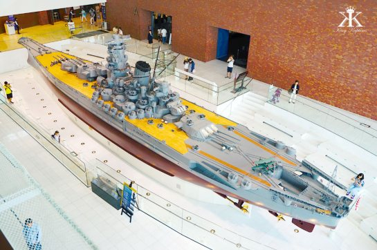 Kure 2015, Kure Maritime (Yamato) Museum, ship model on display WM
