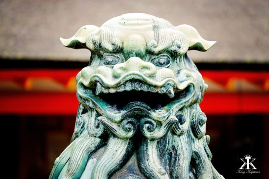 Miyajima 2015, Itsukushima Shrine, chinese foo dog (shisa shishi) WM