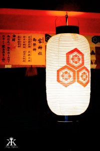 Miyajima 2015, Itsukushima Shrine, light from a chinese latern WM