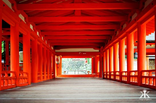 Miyajima 2015, Itsukushima Shrine, lonely boardwalk WM