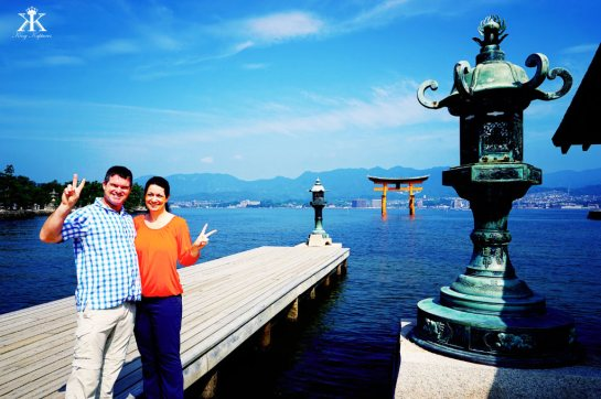Miyajima 2015, Itsukushima Shrine, peaceful day on the waterfront WM