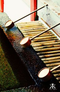 Miyajima 2015, Itsukushima Shrine, purifying water 2 WM