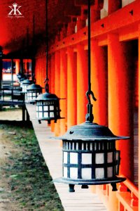 Miyajima 2015, Itsukushima Shrine, shrine lamps WM
