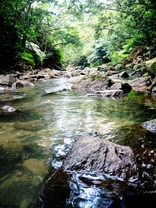Okinawa Aug 2015, Tataki Falls, a river runs through it