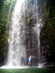 Okinawa Aug 2015, Tataki Falls, climbing around the falls