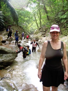 Okinawa Aug 2015, Tataki Falls, trekking with our Japanese friends