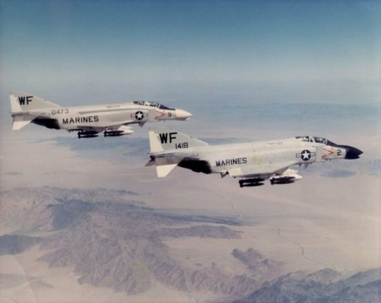 F-4B Phantoms of VMFA-513 in 1964