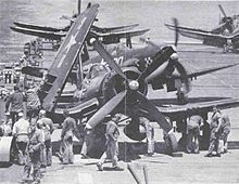 Corsairs of 312 afloat on USS Rendova