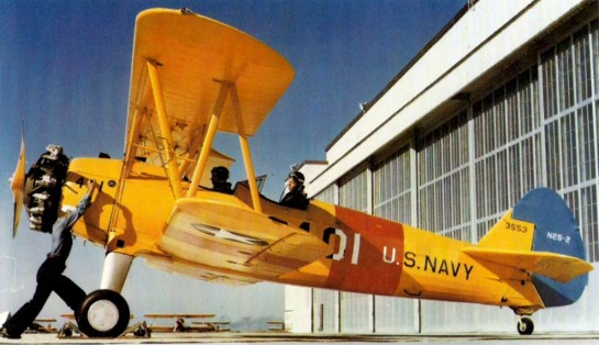 Navy N2S Yellow Peril at NAS Corpus Christi, 1943