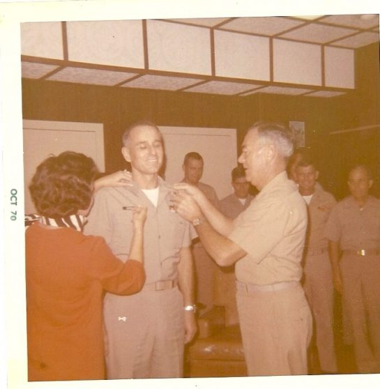 Promotion to Full-Bird Colonel 1970