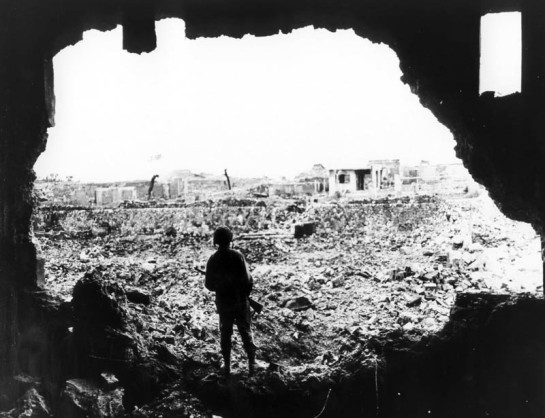 The Nearly Complete Devastation of Okinawa in 1945