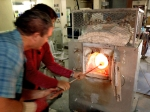 jodys-birthday-2016-glass-blowing-kevin-picking-up-molten-glass