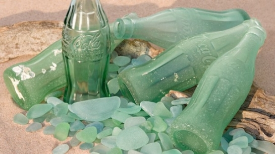 The Soda-Lime Composition of War-Era Coke Bottles Still Provides Beautiful Sea Glass on Okinawan Beaches Today!