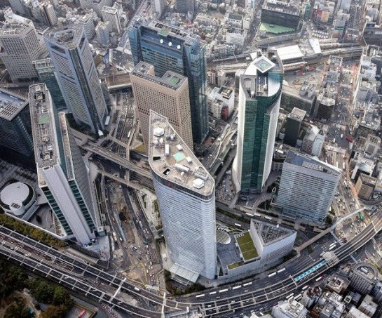 Modern Shiodome City District