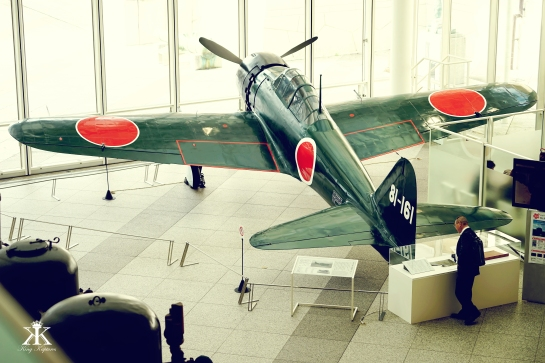 Japanese A6M Type 0 Fighter in the Museum's Lobby