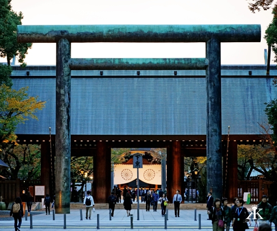 Second Torii (Bronze) and Shrine Gate