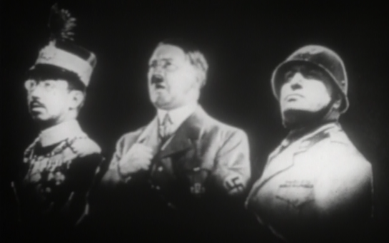 The Leaders of the Axis Powers - note that Hirohito (who escaped execution) is pictures, not Tojo
